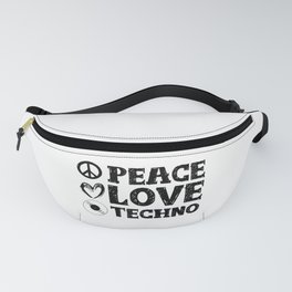 Peace Love Techno | Art work Gift Fanny Pack