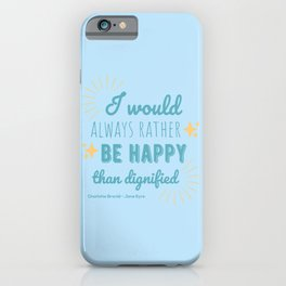 Jane Eyre Quote I - Blue Edition iPhone Case