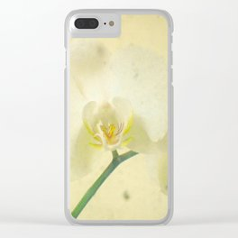 White Orchid Clear iPhone Case