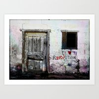 revolution Art Prints featuring rEVOLution by Bärdie D/Sign