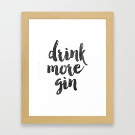 Decor Poster Quote Poster Inspiring Typography Print Quotes Premium Black and White Print gin Framed Art Print