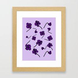 February birth flower violet Framed Art Print
