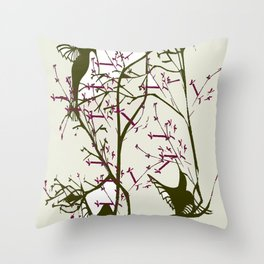 Hummingbirgds, before anything had a soul Throw Pillow