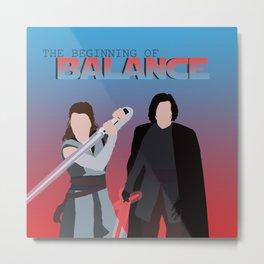 Reylo Balance Rey and Kylo Metal Print