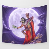 dracula Wall Tapestries featuring Dracula by cheesecake