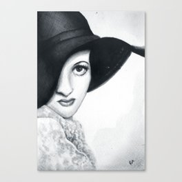 Joan Crawford, watercolour Canvas Print