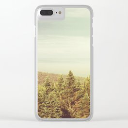 Forest Lookout Clear iPhone Case