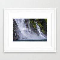 waterfall Framed Art Prints featuring Waterfall.. by Michelle McConnell