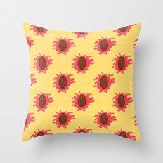 Peaches n Cream Throw Pillow