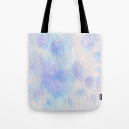 White Dots + Iridescence Blue Tote Bag