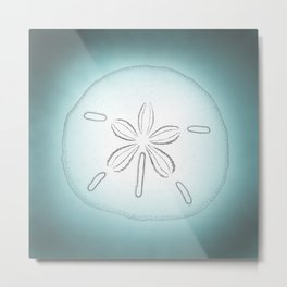 Sand Dollar Blessings - Pointilist Art Metal Print