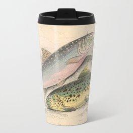 Vintage River Trout Illustration (1866) Travel Mug