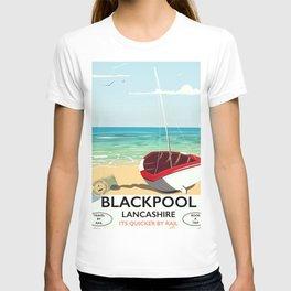 Blackpool, Lancashire, Rail poster T-shirt