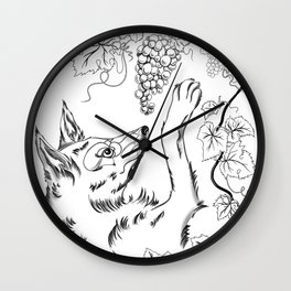 The Fox and Grapes Wall Clock
