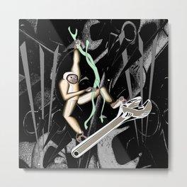 Monkey Wrench Metal Print