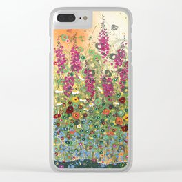 Fireweed in Melon Clear iPhone Case