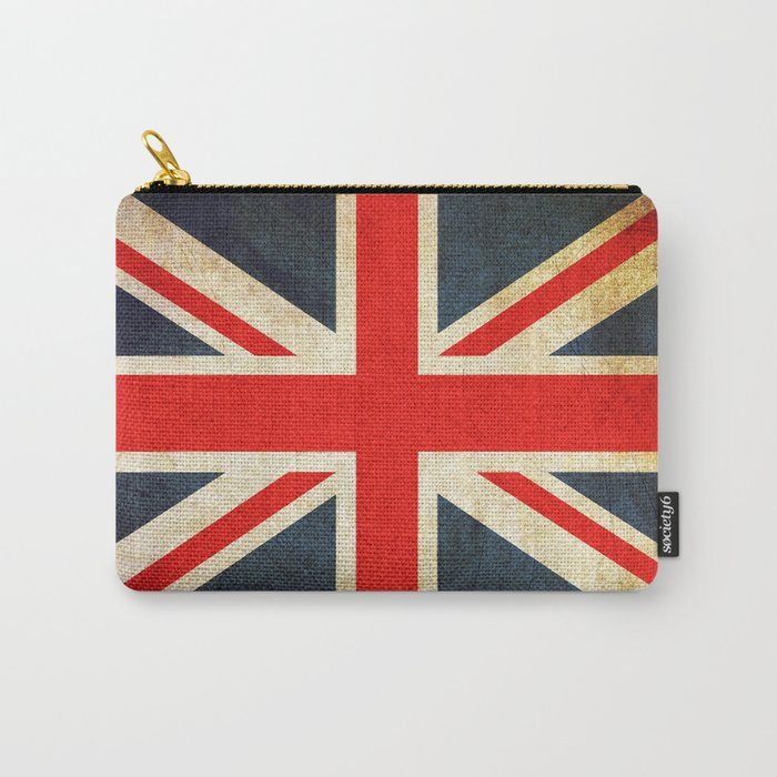 Vintage Union Jack British Flag Carry-All Pouch