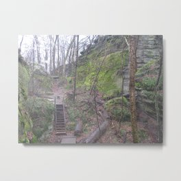 Stairs in the ledges Metal Print