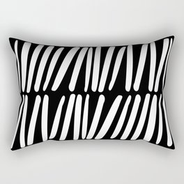 Tick 05 / Black and white print Rectangular Pillow