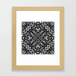 Kaleidoscope White Lace Print Framed Art Print