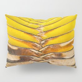 Tropical Pineapple Yellow & Brown Leaves Pillow Sham