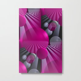3D - abstraction -116- Metal Print
