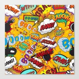 Comic Book Pop Art Shout Outs Modern Fun Canvas Print
