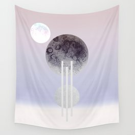 Dream Of The Glitter Moon Wall Tapestry