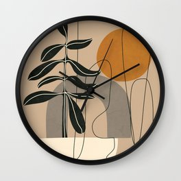 Abstract Shapes 04 Wall Clock