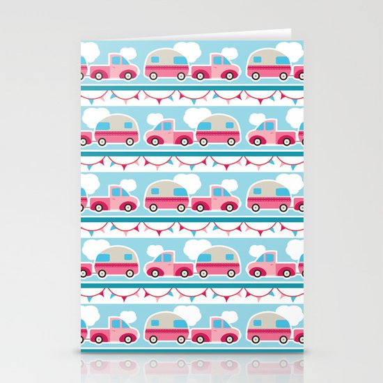 Glamping stripes Stationery Cards