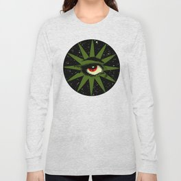 Red and Green All Seeing Cosmic Eye Long Sleeve T-shirt