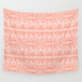 vintage moroccan - coral Wall Tapestry