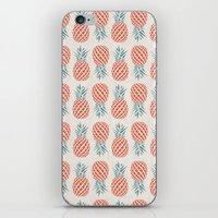 logo iPhone & iPod Skins featuring Pineapple  by basilique