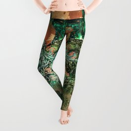Cthulhu vs Godzilla Leggings