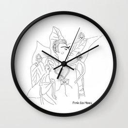 Frida con Monos Wall Clock