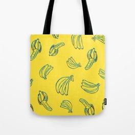 3D Bananas PatternYellow Tote Bag