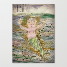 There are also men sirens Canvas Print