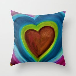 EXPANDING HEART Throw Pillow