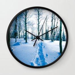 Snowshoeing Adventure Wall Clock