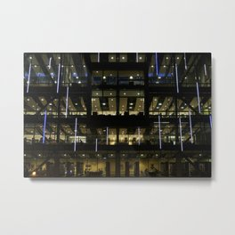 CSUDH Library At Night Metal Print