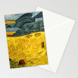 Fields of Gold, Tuscany, Italy landscape by Paul Serusier Stationery Cards