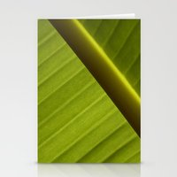 banana leaf Stationery Cards featuring Banana Leaf by Maria Heyens
