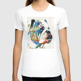 Bulldog Pop Art - How Bout A Kiss - By Sharon Cummings T-shirt