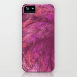 Transparent Purple Petals Fractal iPhone Case