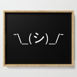 Oops Shrug Emoticon ¯\_(シ)_/¯ Japanese Kaomoji Serving Tray