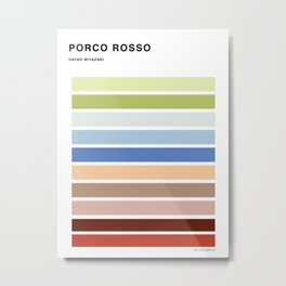 The colors of - Porco Rosso Metal Print