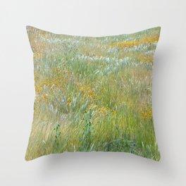 Wildflowers Field 2 Throw Pillow
