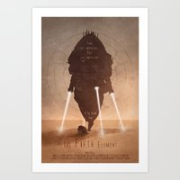 fifth element Art Prints featuring The Fifth Element No.1 by Digital Theory