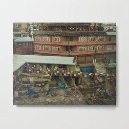 Kathmandu City Roof Tops - Architecture 05 Metal Print