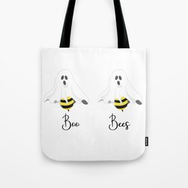 Boo Bees Cute Ghost Halloween Tote Bag